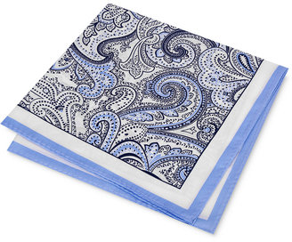 Club Room Men's Wild Paisley Pocket Square, Only at Macy's $32.50 thestylecure.com