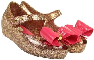 Mini Melissa Glitter Pink Flats $55 thestylecure.com