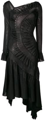 Roberto Cavalli asymmetric midi dress
