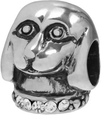 Individuality Beads Sterling Silver Crystal Dog Bead