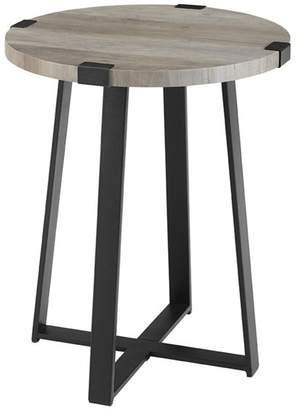 Walker Edison 18 Metal Wrap Round Side Table
