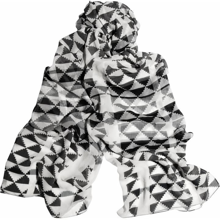 Burberry Shoes & Accessories Geometric-print silk-chiffon scarf