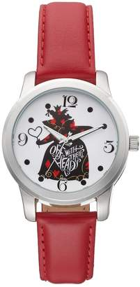 "Disney Disney's Alice in Wonderland ""Off With Their Heads"" Women's Leather Watch"