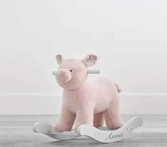 Pottery Barn Kids Pink Pig Plush Rocker