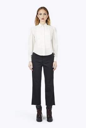 Marc Jacobs Cotton Poplin Top-Stitched Shirt