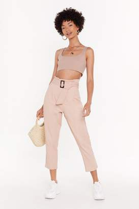 Nasty Gal Womens I'Ve Got My Mamas Denim Belted Jeans - Pink - 12
