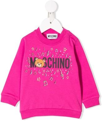 Moschino Kids logo crew neck sweatshirt