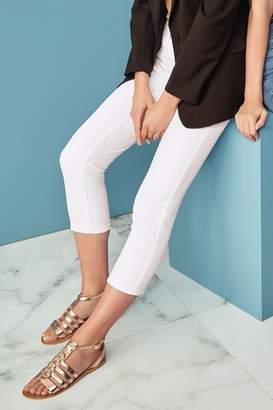 Next Womens White Cropped Jeans - White