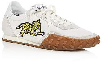 Kenzo Women's Tiger Appliqué Quilted Lace Up Sneakers