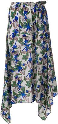 Christian Wijnants floral flared skirt