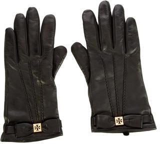 Tory Burch Tory Burch Bow-Accented Leather Gloves