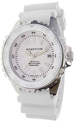 Momentum Quartz Stainless Steel and Rubber Casual Watch