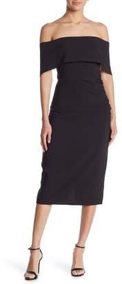 Marina Off-The-Shoulder Midi Dress