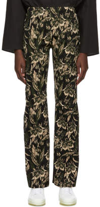 MM6 MAISON MARGIELA Green and Brown Jacquard Trousers