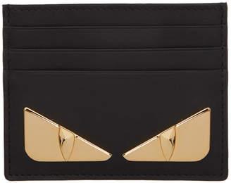 Fendi Black and Gold Bag Bugs Card Holder
