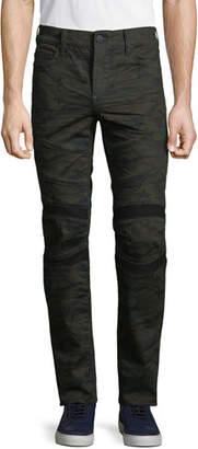 True Religion Men's Rocco Moto Cosmic Camo Skinny Pants
