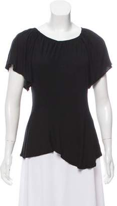 Fendi Asymmetrical Short Sleeve Blouse