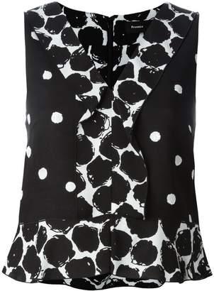 Proenza Schouler sleeveless polka dot blouse