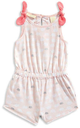 First Impressions Little Girl's Elephant-Print Cotton Romper