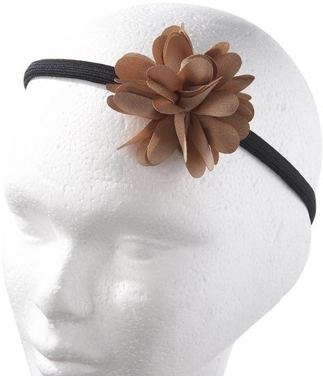 Satin like flower headband