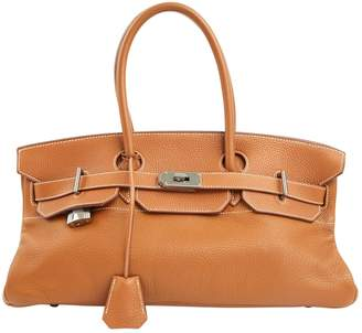 Hermes Birkin Shoulder Camel Leather Handbag