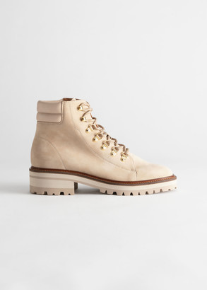 And other stories Chunky Suede Hiking Boots