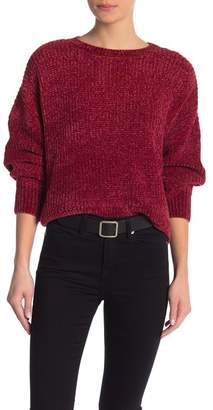 Romeo & Juliet Couture Solid Chenille Crew Neck Sweater