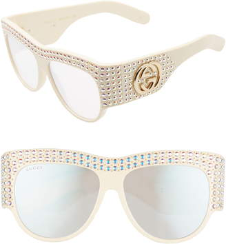 cb3e929c3c027 Gucci Hollywood Forever 56mm Swarovski Crystal Sunglasses