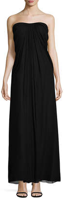Aidan Mattox Pleated And Draped Gown