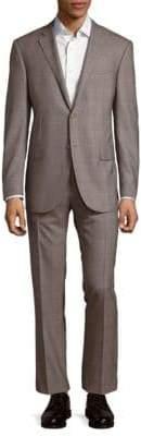 Corneliani Modern Fit Plaid Virgin Wool Suit