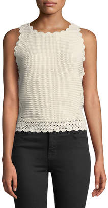 Dex Tie-Back Crochet Tank
