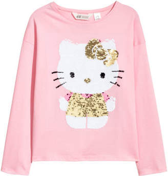 H&M Top with reversible sequins - Pink