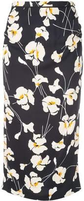 No.21 floral print midi skirt