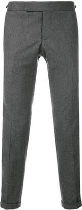 Thom Browne Seamed Elastic Stripe Skinny Wool Trouser