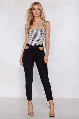 Nasty Gal Out of Pocket High-Waisted Jeans