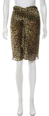 Isabel Marant Silk Printed Skirt