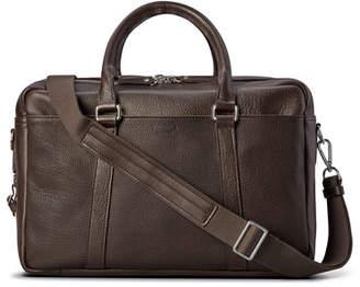Shinola Men's Luxe Leather Double-Zip Laptop Briefcase