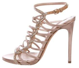 Casadei Metallic Embellished Sandals
