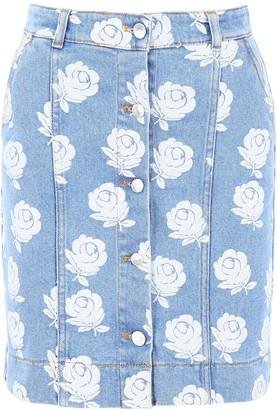 Kenzo Rose Print Skirt