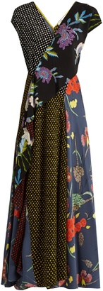 DIANE VON FURSTENBERG Multi-print capped-sleeved silk dress $628 thestylecure.com