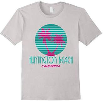 Huntington Beach California T Shirt Palm Trees Souvenir