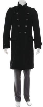 Salvatore Ferragamo Double-Breasted Virgin Wool Coat black Double-Breasted Virgin Wool Coat