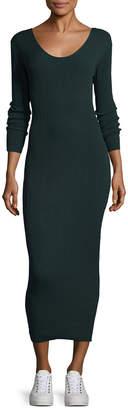 Ronny Kobo Pearl Ribbed Maxi Dress