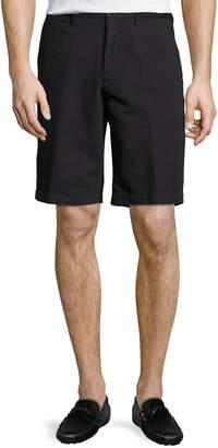 Ermenegildo Zegna Cotton-Linen Straight-Leg Shorts