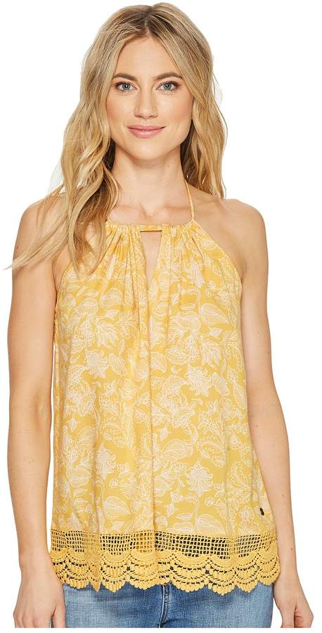 Roxy - Light and Breezy Printed Woven Top Women's Sleeveless