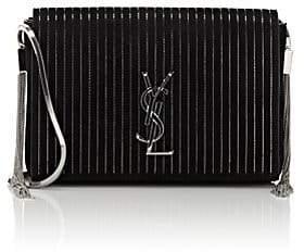 Saint Laurent Women's Monogram Kate Small Suede Chain Bag - Black