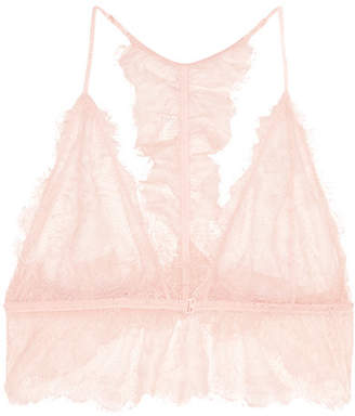 Lace Soft-cup Bra - Pastel pink