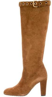 Car Shoe Suede Knee-High Boots