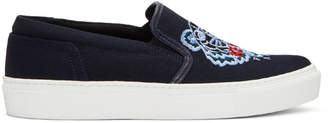 Kenzo Navy Tiger K-Skate Slip-On Sneakers