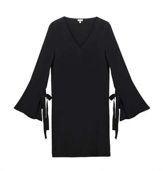 Cuyana Silk Tie Sleeve Dress